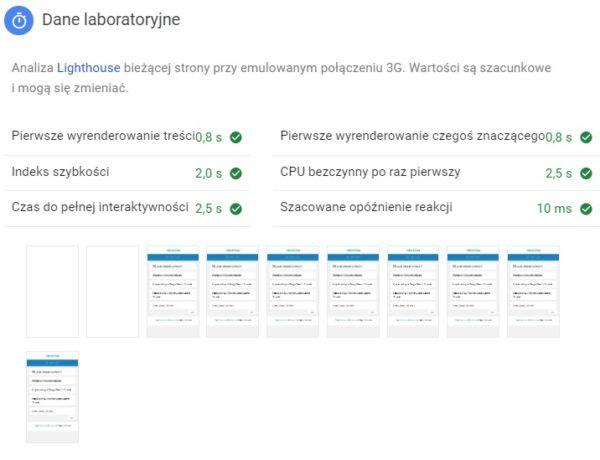 dane laboratoryjne