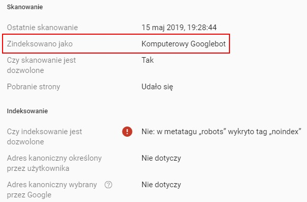 komputerowy Googlebot