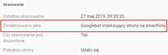 smartfony Googlebot