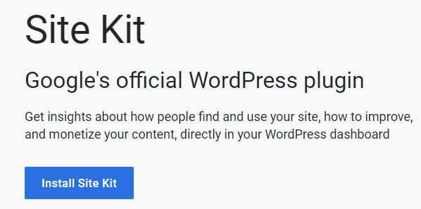 Plugin WordPress Google Site Kit