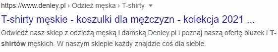 koszulki - wynik w google